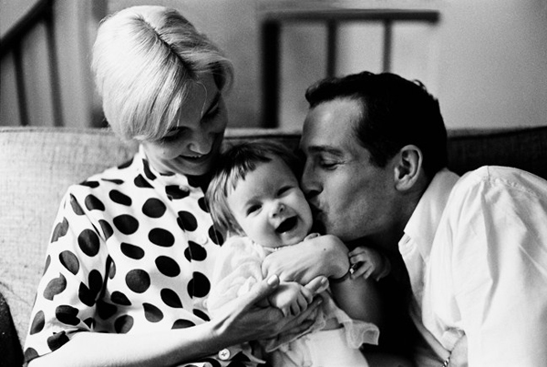 paul-newman-and-joanne-woodward-with-baby